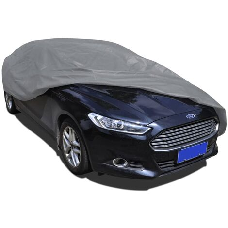 vidaXL Car Cover Nonwoven Fabric Protection Cover Full Car Cover Coverage Cover Vehicle Anti Outdoor Heat Sun UV Protection Multi Sizes