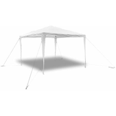 vidaXL Carpa cenador de jardín techo de pirámide 3x3 m - Blanco