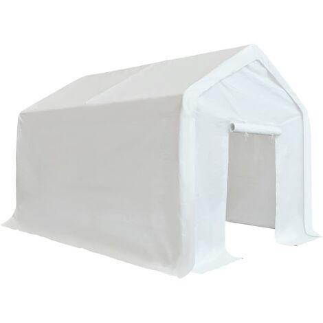 vidaXL Carpa de almacenamiento PE blanco 3x6 m - Blanco