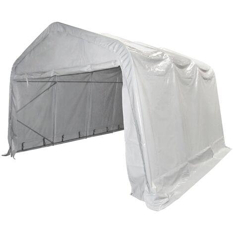 vidaXL Carpa de almacenamiento PVC blanca 550 g/m² 4x6 m - Blanco