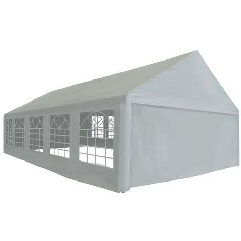vidaXL Carpa para Celebraciones Almacenamiento Toldo Camping Festival Jardín Exterior Terraza Patio al Aire Libre PE Gris Diferentes Dimensiones