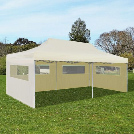 vidaXL Carpa plegable Pop-up 3x6 m crema
