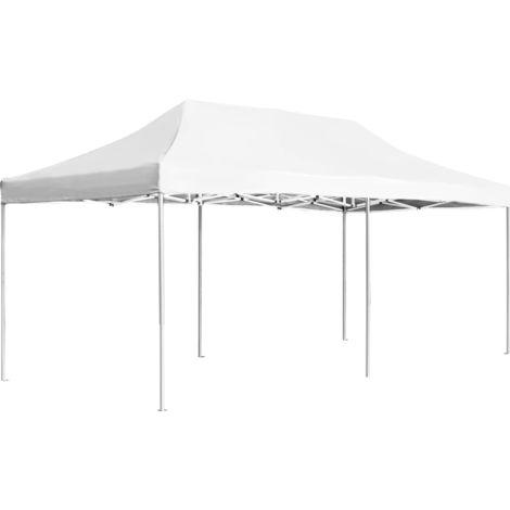 vidaXL Carpa plegable profesional de aluminio blanco 6x3 m