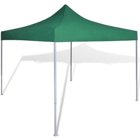 vidaXL Carpa tienda plegable verde 3x3 m