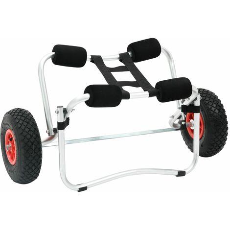 "main image of ""vidaXL Carrito de kayak de aluminio"""