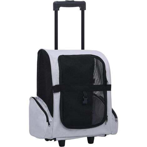 vidaXL Carrito trolley plegable multiusos para mascotas gris - Gris