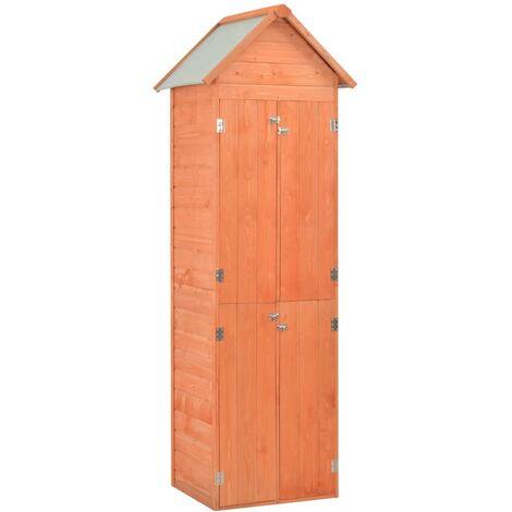 vidaXL Caseta de almacenamiento de jardín de madera 71x60x213 cm - Marrón