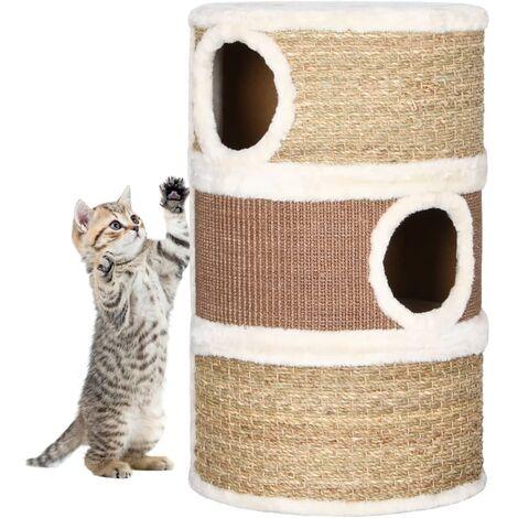 vidaXL Cat Scratching Barrel 60 cm Seagrass - Brown