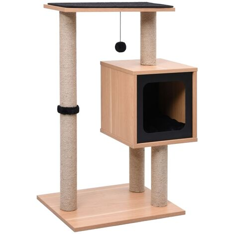 vidaXL Cat Tree with Sisal Scratching Mat 82 cm - Brown
