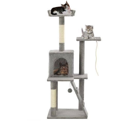 "main image of ""vidaXL Cat Tree with Sisal Scratching Posts Kitten Furniture Condo Playhouse Pet Activity Centre Climbing Tower Multi Colour"""