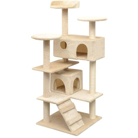 "main image of ""vidaXL Cat Tree with Sisal Scratching Posts 125 cm Beige - Beige"""
