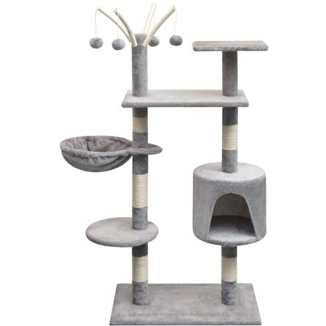 vidaXL Cat Tree with Sisal Scratching Posts 125 cm Grey - Grey
