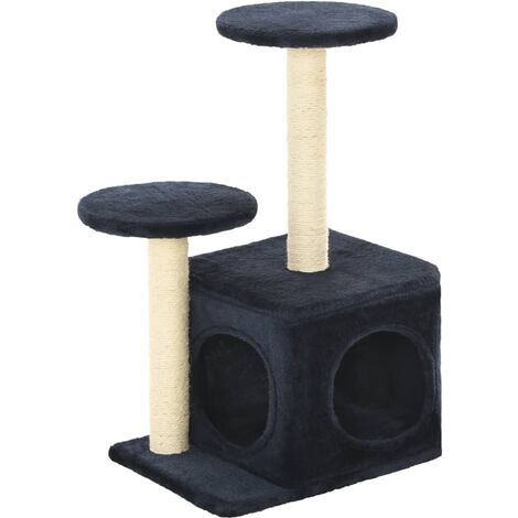 vidaXL Cat Tree with Sisal Scratching Posts 60 cm Kitten Playhouse Cat Play Tower Cat Cave Home Living Room Entertainment Multi Colours