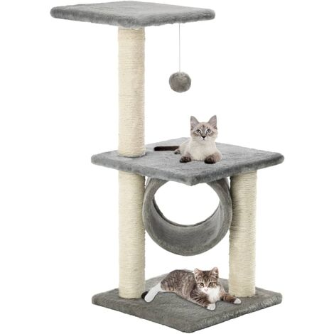 """main image of """"vidaXL Cat Tree with Sisal Scratching Posts 65 cm Kitten Playhouse Cat Play Tower Cat Cave Home Living Room Entertainment Multi Colours"""""""
