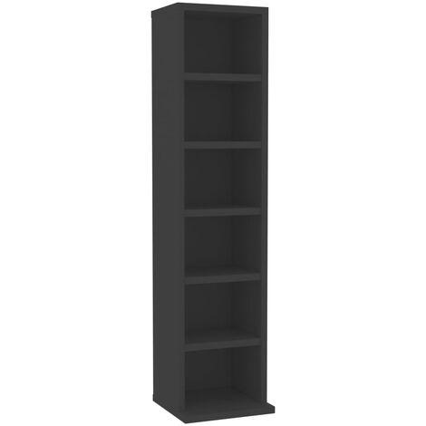vidaXL CD Cabinet Living Room Records Media Storage Display Shelf Organiser Unit Case Cupboard Furniture Chipboard Chipboard Multi Colours