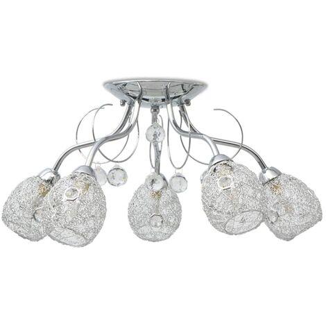 vidaXL Ceiling Lamp for 5 G9 Bulbs 200 W - White