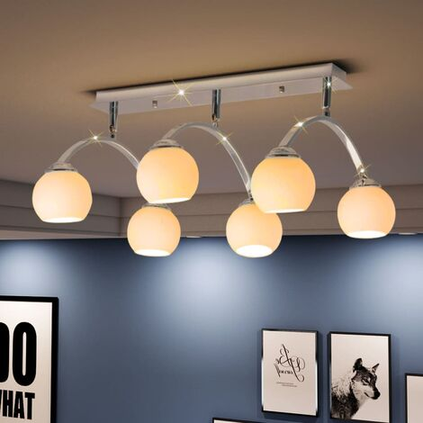 vidaXL Ceiling Lamp for 6 G9 Bulbs 240 W - White