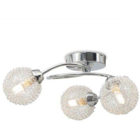 vidaXL Ceiling Lamp with 3 LED Bulbs G9 120 W - White