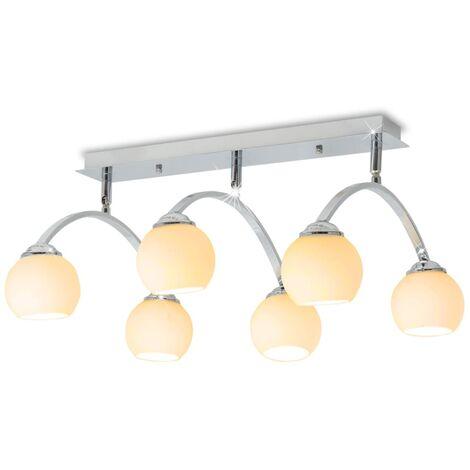 vidaXL Ceiling Lamp with 6 LED Bulbs G9 240 W - White