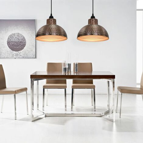 "main image of ""vidaXL Ceiling Lamps 2 pcs Semi-spherical Copper Colour - Brown"""