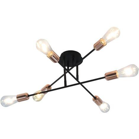 vidaXL Ceiling Light Black and Copper E27 - Black