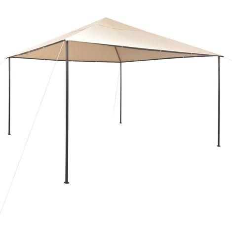 vidaXL Cenador Carpa con Toldo Camping Festival Playa Jardines Pérgola Exterior Terraza Patio al Aire Libre Acero Beige 4x4 m/3x3 m