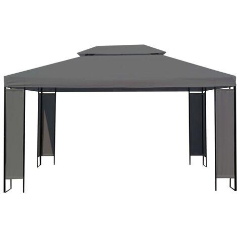 vidaXL Cenador de antracita 300x400 cm - Antracita
