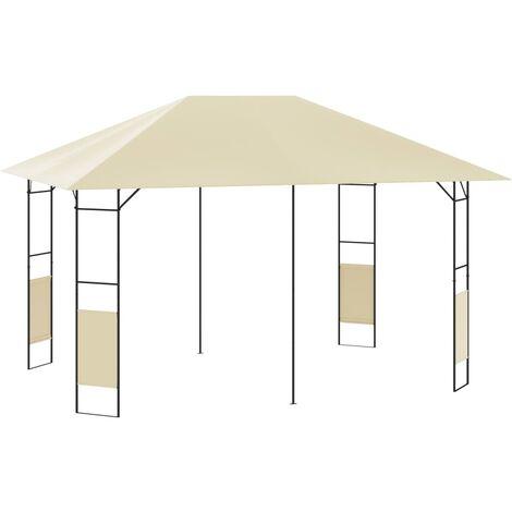 vidaXL Cenador de jardín color crema 4x3 m 160 g/m² - Crema