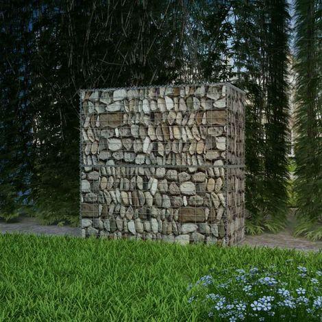 vidaXL Cesta de acero para muro de gaviones 100x50x100 cm acero (no se puede enviar a Baleares)