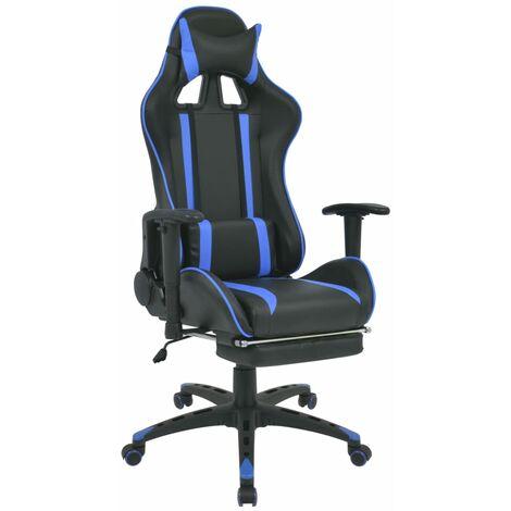 vidaXL Chaise de Bureau Inclinable avec Repose-pied Fauteuil Pivotant Chaise d'Ordinateur Salon Siège d'Ordinateur Maison Intérieur Multicolore