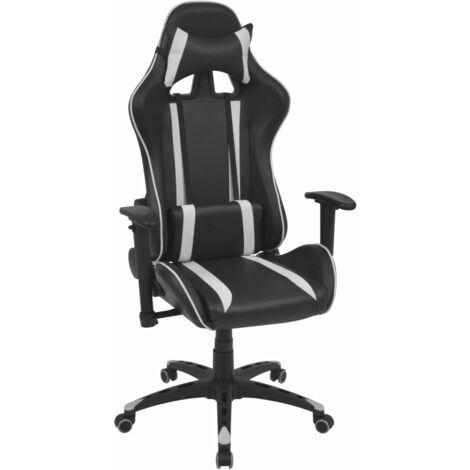 vidaXL Chaise de Bureau Inclinable Cuir Artificiel Fauteuil Pivotant Chaise d'Ordinateur Siège d'Ordinateur Salon Maison Intérieur Multicolore