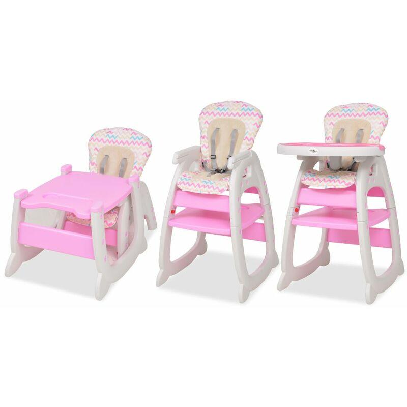 Chaise Avec 3 Vidaxl En Rose Haute 1 Convertible Table f7gb6Yy