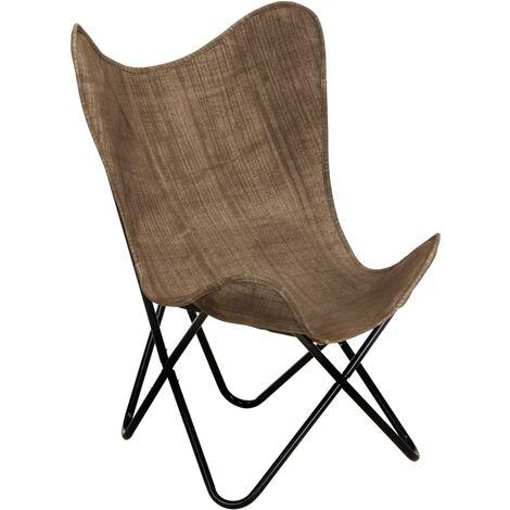 vidaXL Chaise Papillon Chaise de Salon Meuble de Salle de Séjour Chaise de Chambre à Coucher Maison Intérieur Multicolore Multi-matériau