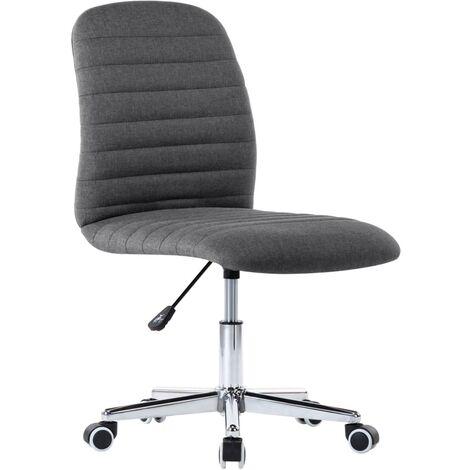 vidaXL Chaise Pivotante de Bureau Tissu Siège de Salle à Manger Chaise à Dîner Chaise de Travail Studio Salon Maison Intérieur Multicolore