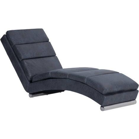 vidaXL Chaiselongue Relaxliege Liegesessel Sessel Lounge Liegestuhl Relaxsessel Loungesessel Sesselliege Komfortliege Polsterliege Wildleder-Optik Braun/Grau