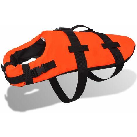 vidaXL Chaleco Salvavidas para Perros Talla S/M/L Color Naranja100% Poliéster