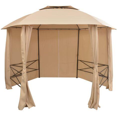 vidaXL Chapiteau Tente de Jardin avec Rideaux Pavillon de Terrasse Tente de Réception de Patio Tente de Mariage Escamotable Modèles Divers