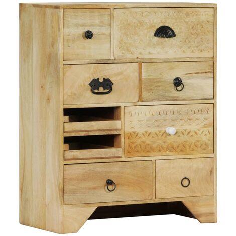 vidaXL Chest of Drawers 60x30x75 cm Solid Mango Wood - Brown