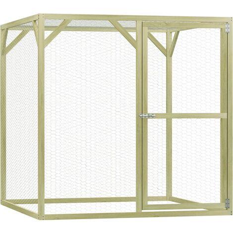 vidaXL Chicken Cage 1.5x1.5x1.5 m Impregnated Pinewood - Green