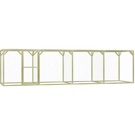 "main image of ""vidaXL Chicken Cage 1.5x6x1.5 m Impregnated Pinewood - Green"""