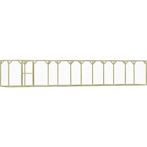 vidaXL Chicken Cage 1.5x9x1.5 m Impregnated Pinewood - Green