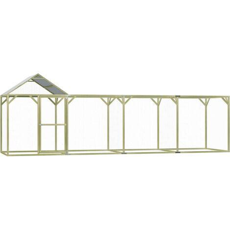 vidaXL Chicken Cage 6x1.5x2 m Impregnated Pinewood - Green