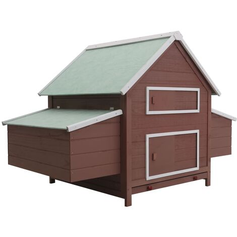 vidaXL Chicken Coop Brown 157x97x110 cm Wood - Brown