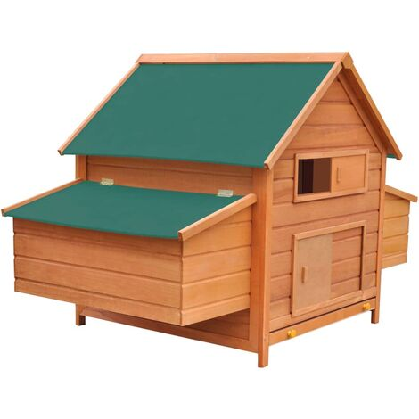 vidaXL Chicken Coop Wood 157x97x110 cm - Brown