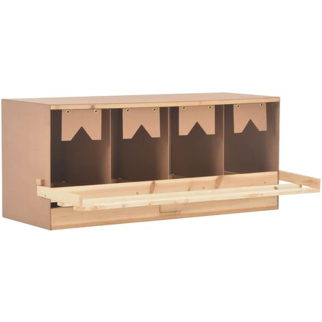 vidaXL Chicken Laying Nest 4 Compartments 106x40x45 cm Solid Pine Wood