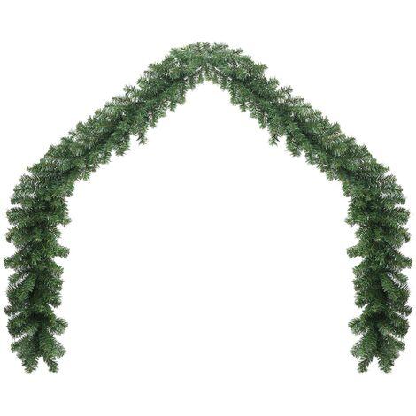 "main image of ""vidaXL Christmas Garland PVC Artificial Garland Fake Plant Holiday Wedding Party Ornament Home Living Room Garden Entertainment 5/10/20 m"""