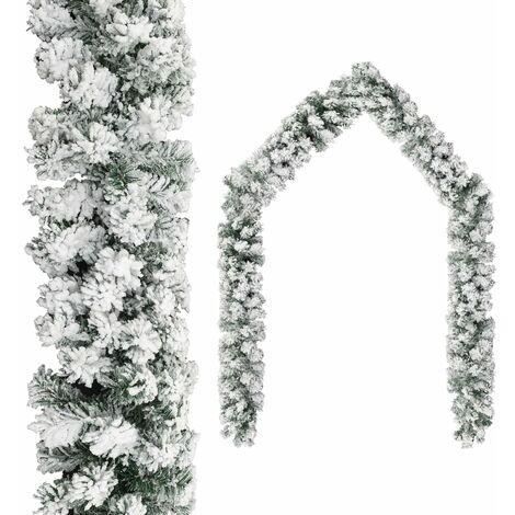 "main image of ""vidaXL Christmas Garland with Flocked Snow Green 20 m PVC - Green"""