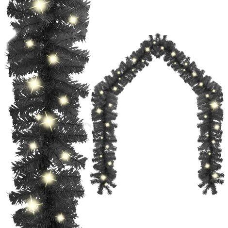"main image of ""vidaXL Christmas Garland with LED Lights 10 m Black - Black"""