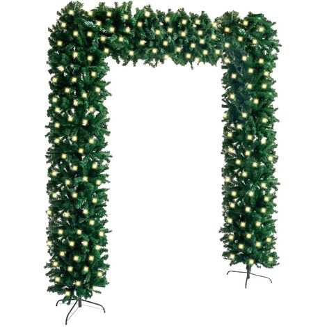 """main image of """"vidaXL Christmas Tree Arch with LEDs Green 240 cm"""""""