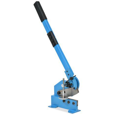 vidaXL Cisaille à levier Bleu Couteau Tôles Cisaille Manuelle Multi-taille